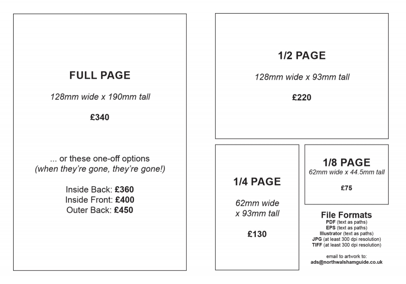 Town Guide 2021-2022 sizes and prices